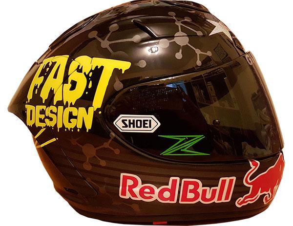 Pintura de cascos de motos